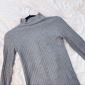 Topshop Ribbed Mid-Turtleneck Long Sleeve